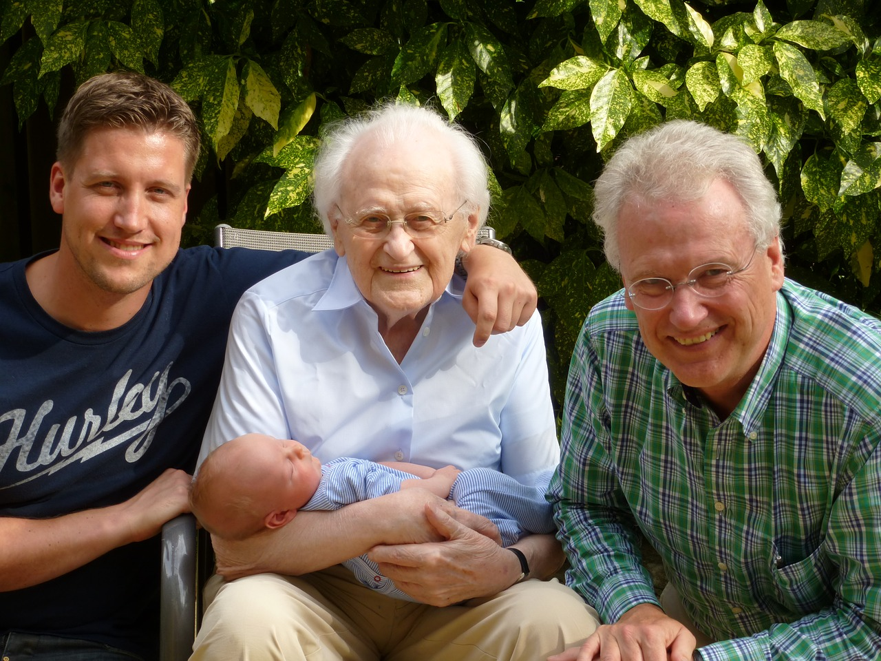 four generations of males